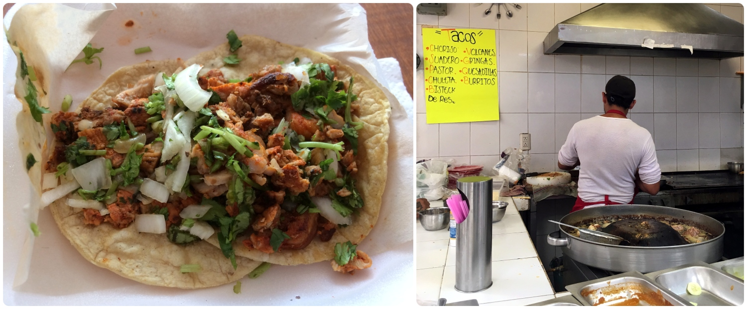 Street tacos can be found in markets and from street vendors all over Santiago de Queretaro, Mexico!