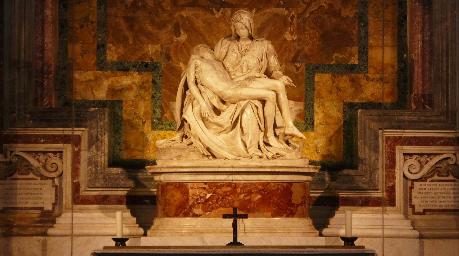 The Pieta (The Pity) Sculpture by Michelangelo Buonarroti, St. Peter's Basilica, Vatican City State