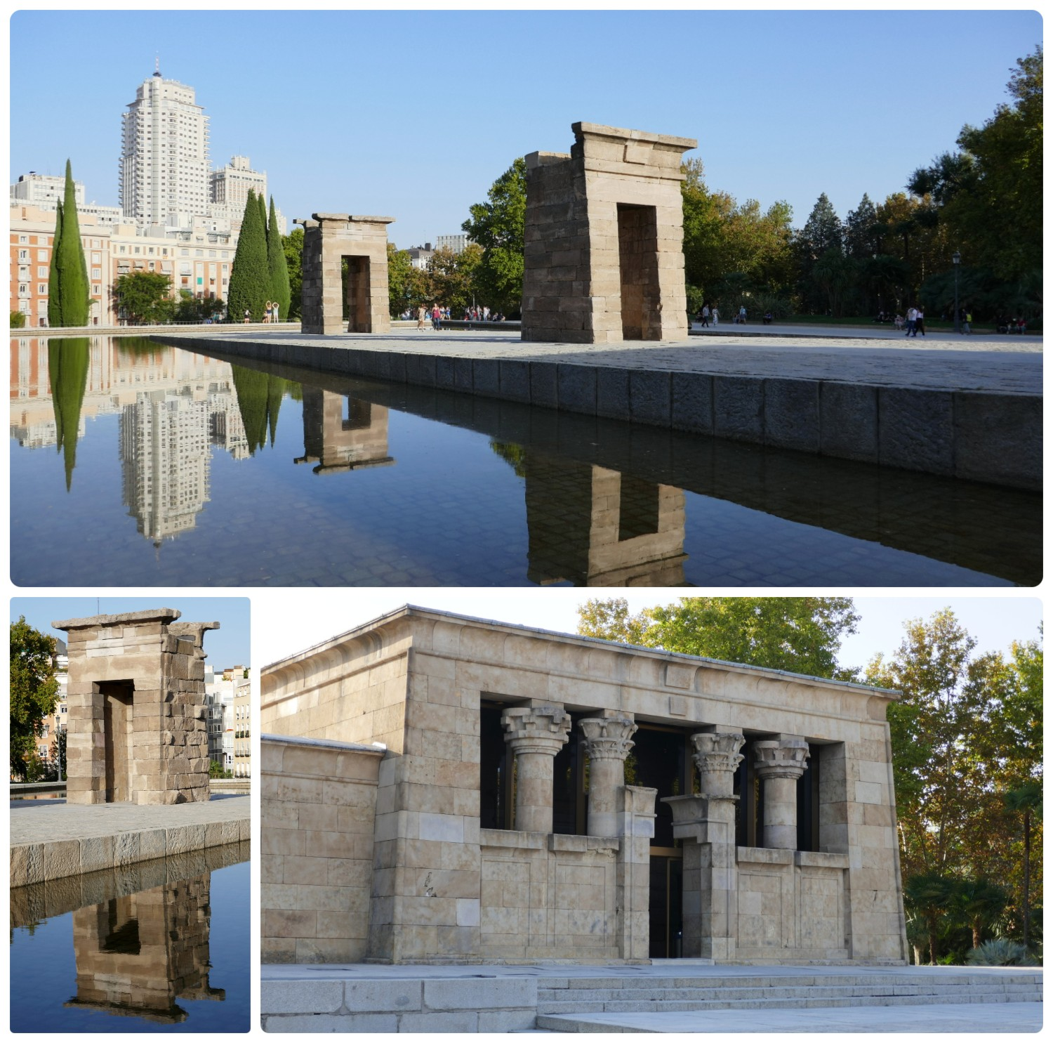 Temple of Debod in Western Park (Parque Oeste), Madrid, Spain.