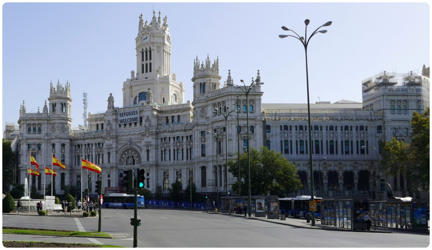Plaza de Cibeles in Madrid, Spain.