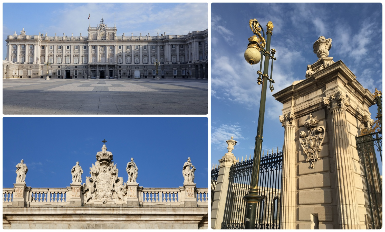 The Royal Palace of Madrid (Palacio Real de Madrid) in Madrid, Spain