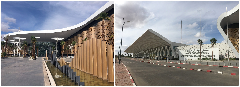 Marrakech Menara Airport MAK exterior architecture