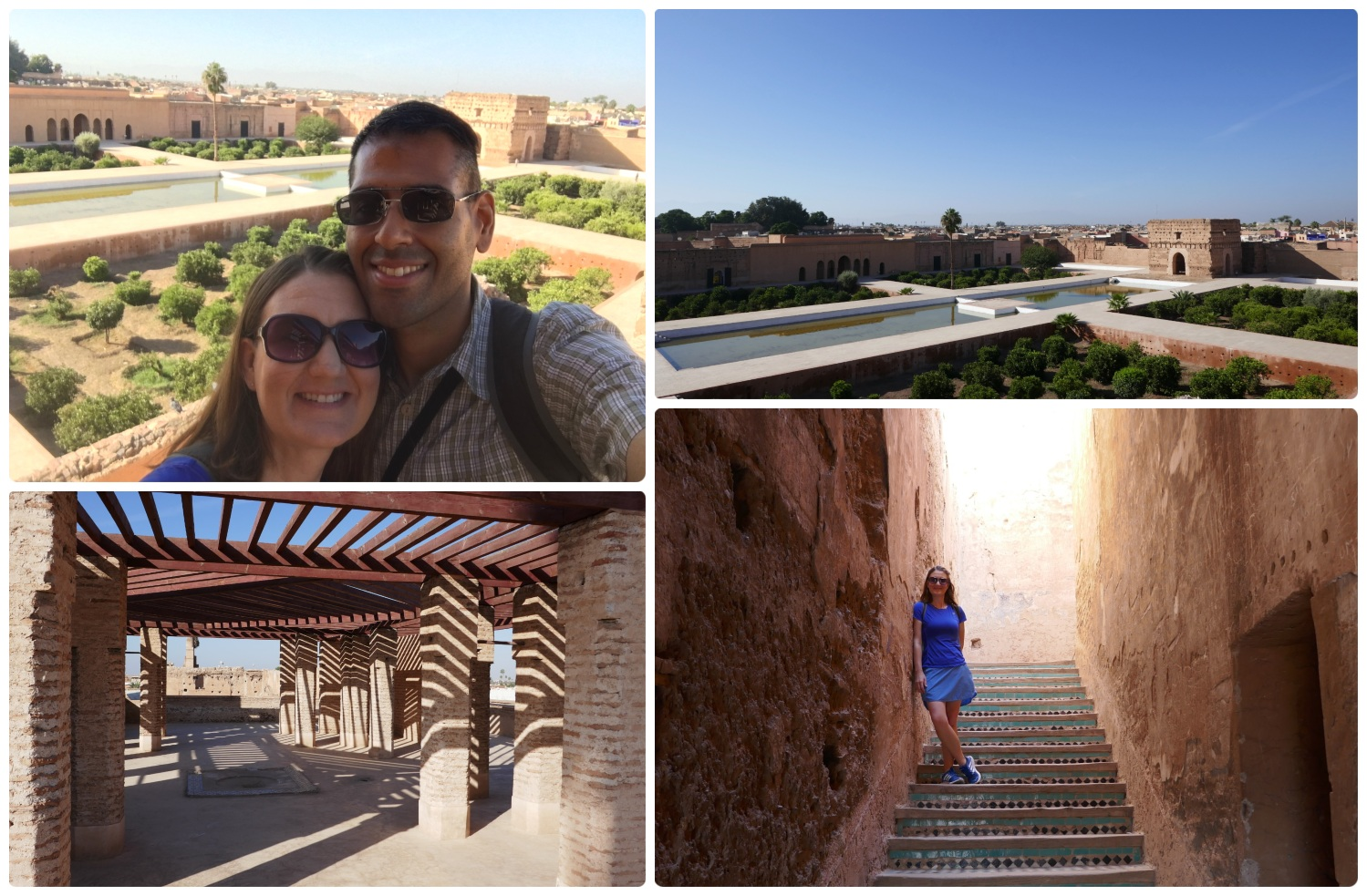 El Badi Palace in the Medina (Old Town), Marrakech, Morocco. Don't miss the rooftop terrace and the stunning views of the palace and the city!
