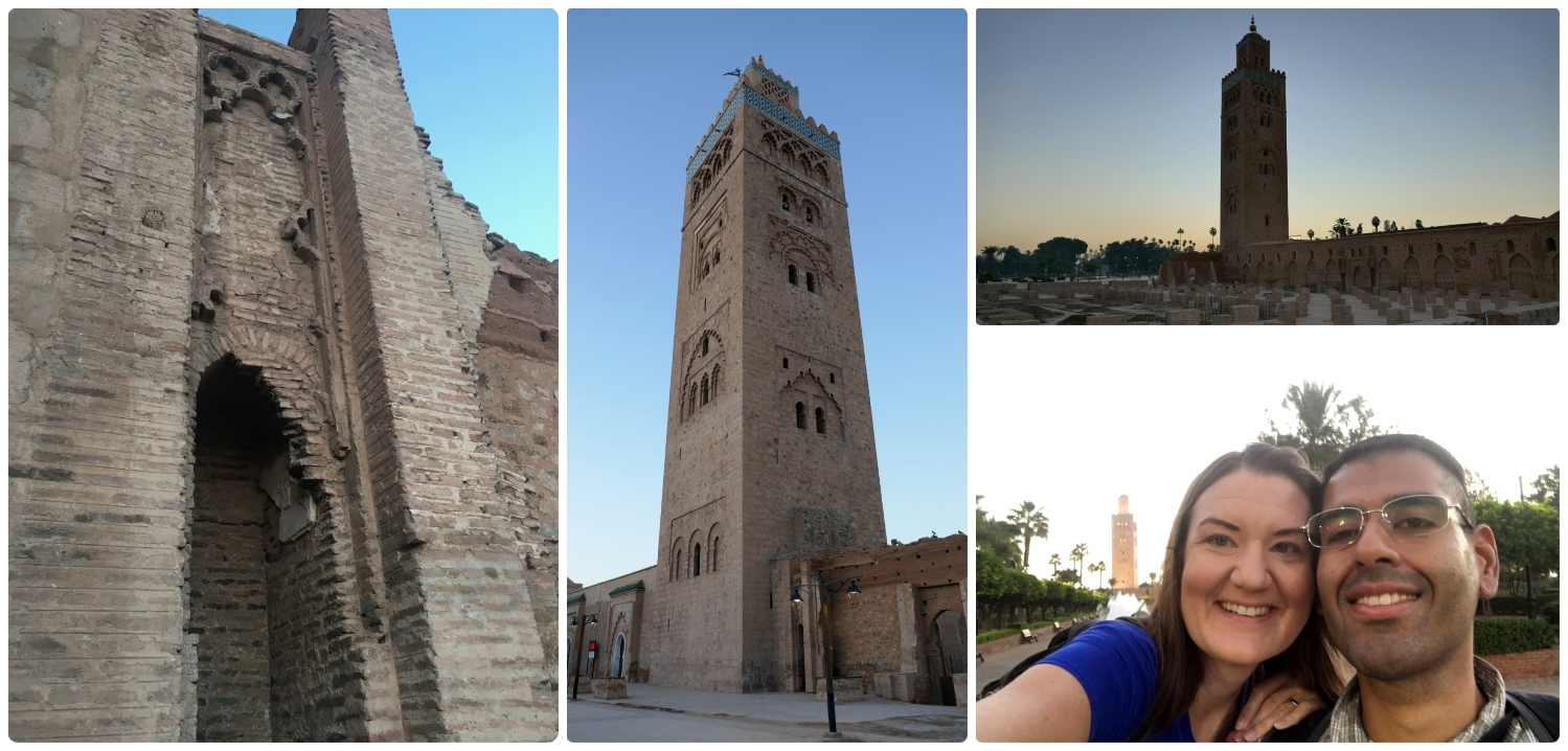 Koutoubia Mosque and ruins in Marrakech, Morocco.