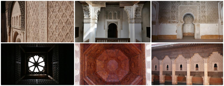 The Son of Joseph School - Ben Youssef Madrasa in the Medina (Old Town), Marrakech, Morocco.