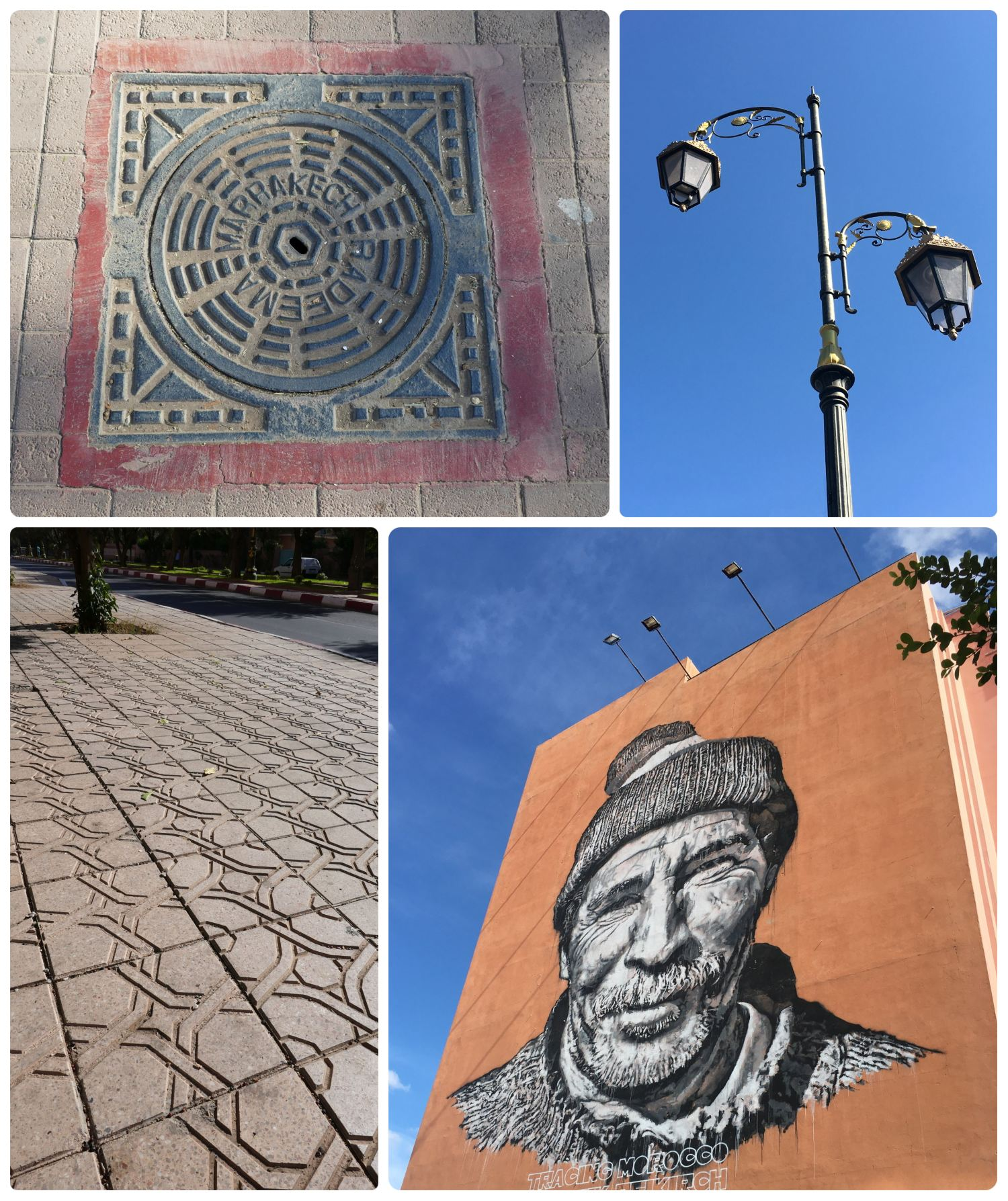Marrakech, Morocco is a city that's designed with intricate details, from the murals to the sidewalks and street lamps!