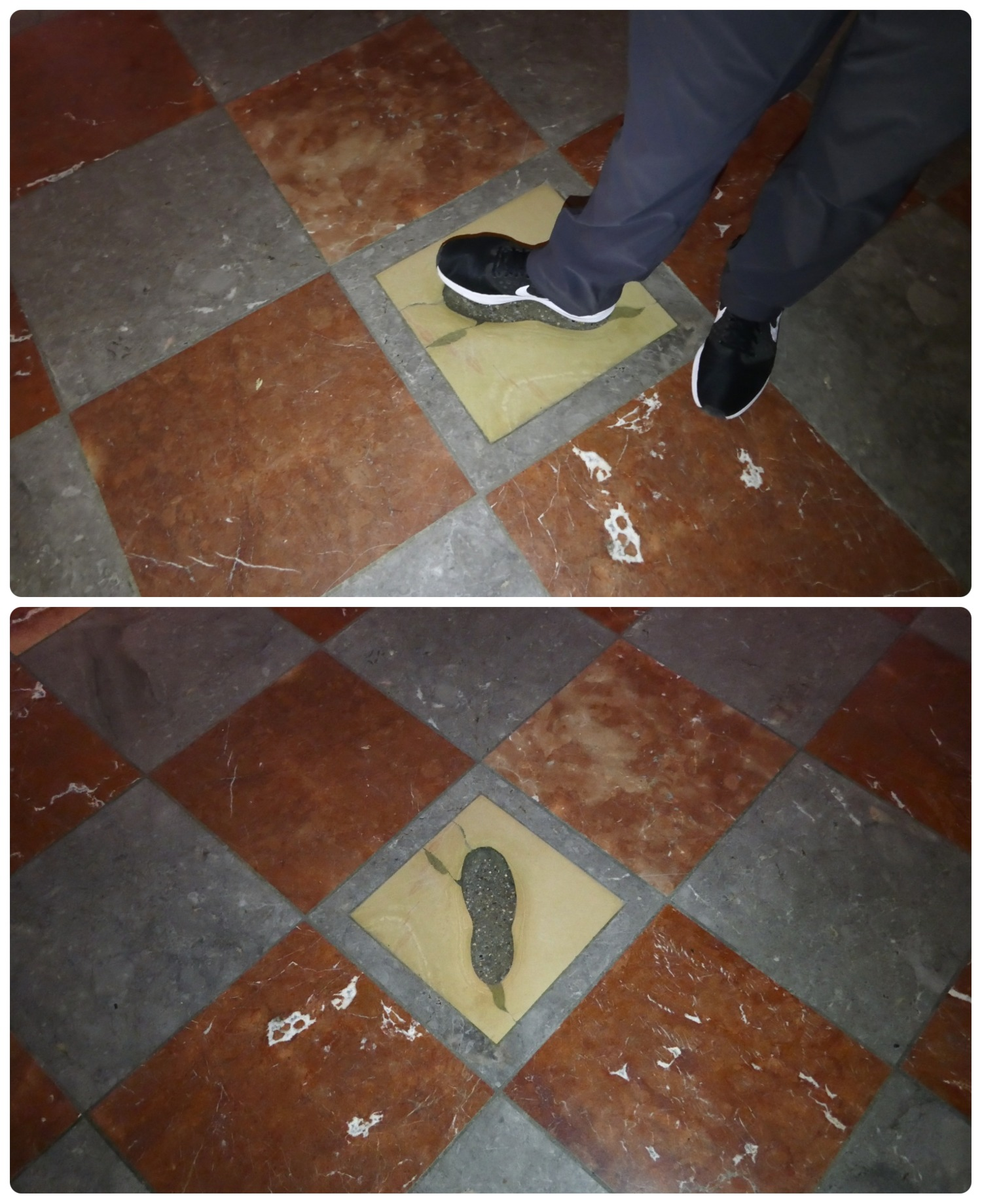 Frauenkirche & the Devil's Footprint (Der Teufels) in Munich, Germany. Head to the back of the cathedral to find the alleged devil's foot print.