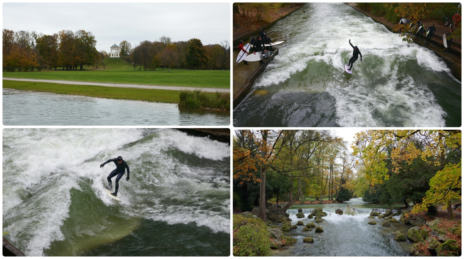 English Garden (Englischer Garten) in Munich, Germany is a huge central park with activities for just about everyone!