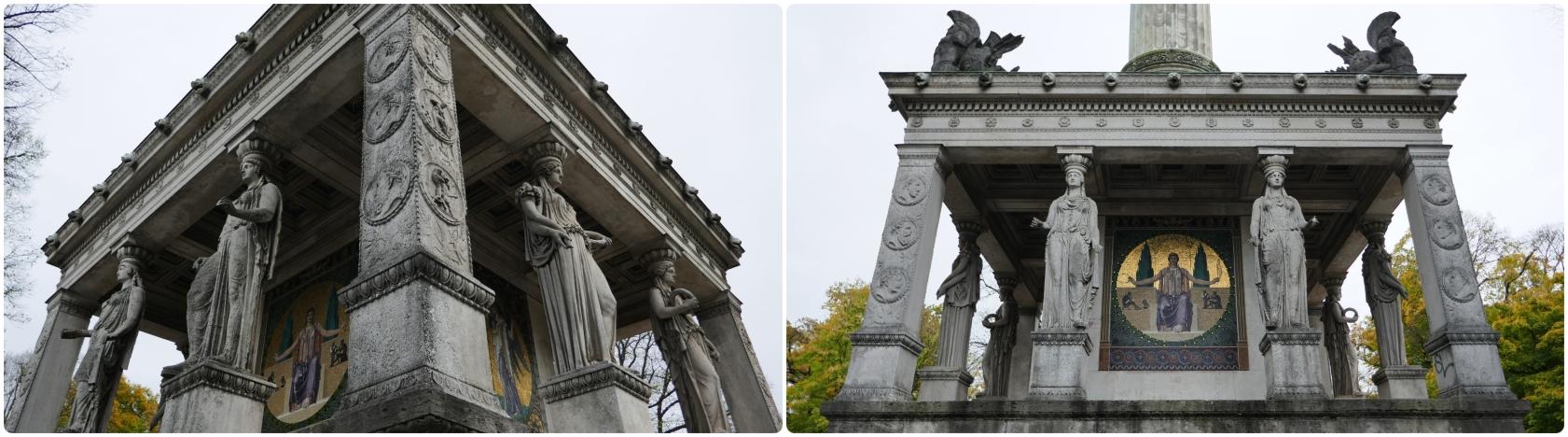 Angel of Peace Monument (Friedensengel) in Munich, Germany.