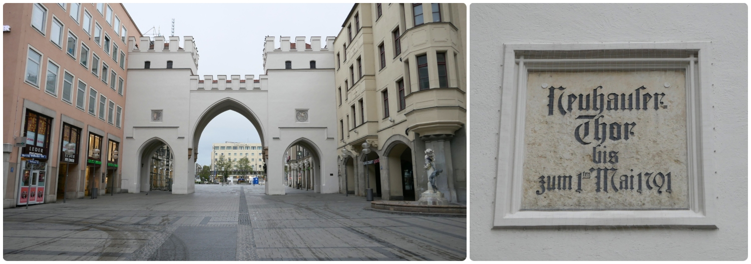 Karlstor (Karl's Gate) is a remaining portion of Munich, Germany's medieval fortification wall.
