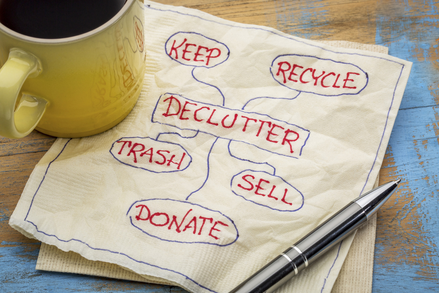 Getting Rid of Our Stuff Downsizing minimalist sell donate discard trash pare down save money budget travel solutions