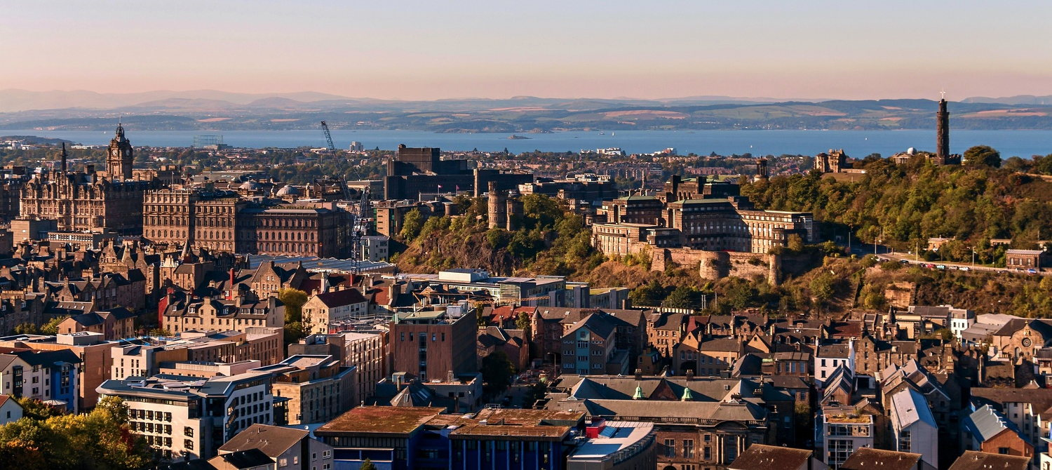 Skyline view of Edinburgh, Scotland, United Kingdom.