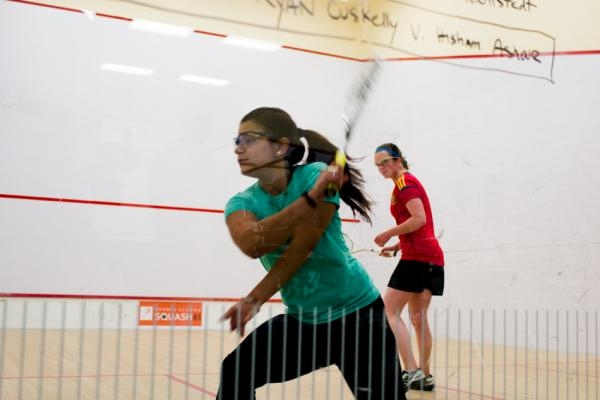 Reyna Pacheco (L) vs. Libby Brown at the NY Open