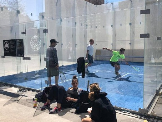 Also new in 2018, the first public court in NYC, established through the pioneering efforts of Public Squash, in Hamilton Fish Park.