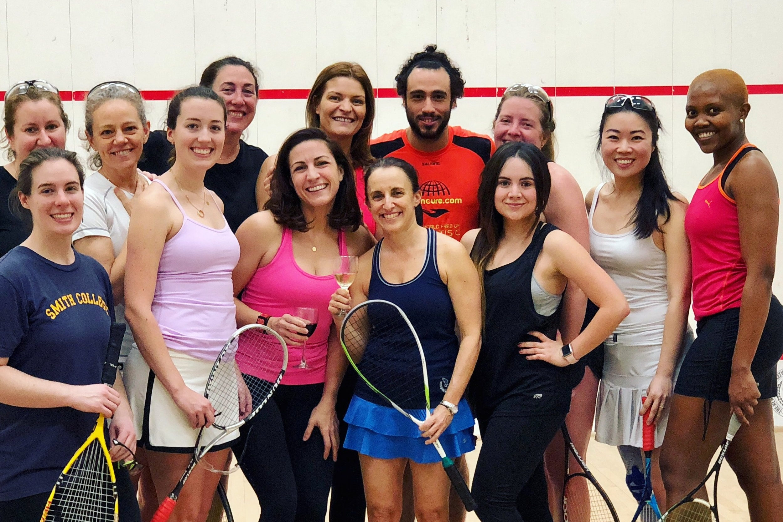 Women's round robin at NYAC, with a unexpected guest…..