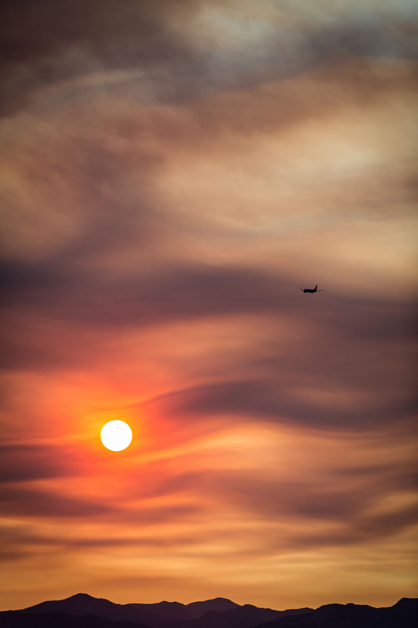 Fiery Sky over Las Vegas