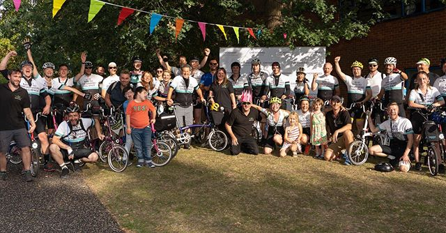 Had an incredible weekend completing the @bromptonbicycle Bath to @chickenshed_uk challenge with a bunch of inspiring folk for a great charity! We went 150 miles on Brompton Bikes...brilliant! #cycle4shed #chickenshed #theatre #tiredlegs