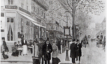 Cafe Tortoni, circa 1804 - Boulevard des Italiens, Paris