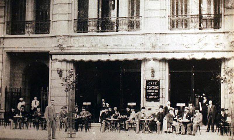 Cafe Tortoni, circa 1858 - Avenida de Mayo, Buenos Aires