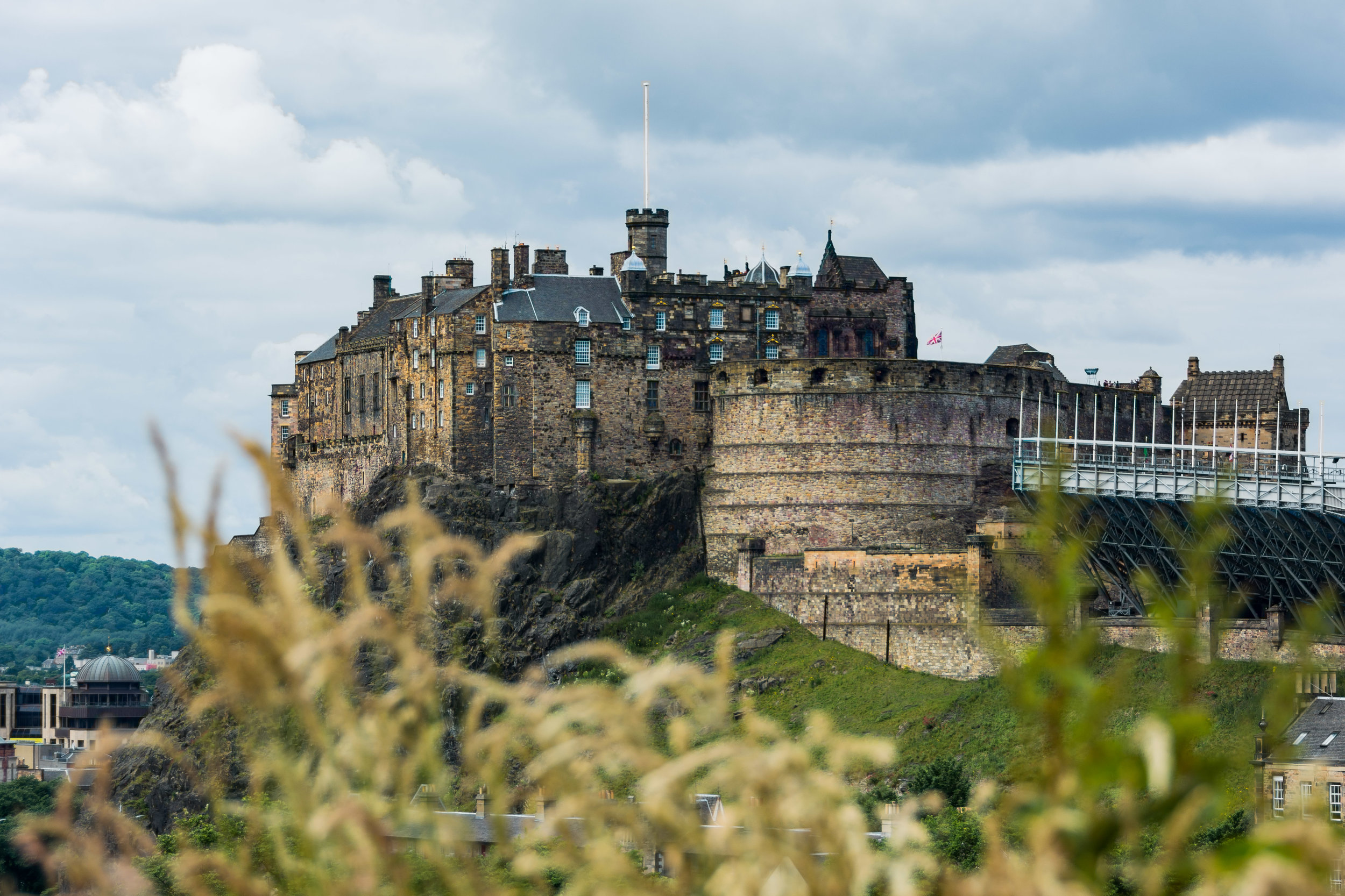 Edinburgh Castle, seen from the National Museum of Scotland