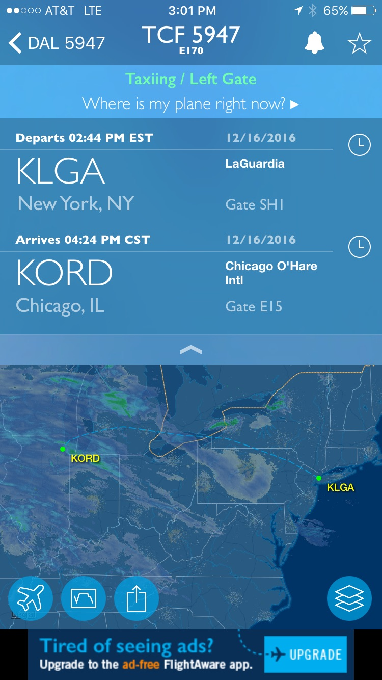 FlightAware. The plane listed is wrong, we were actually on an E175.