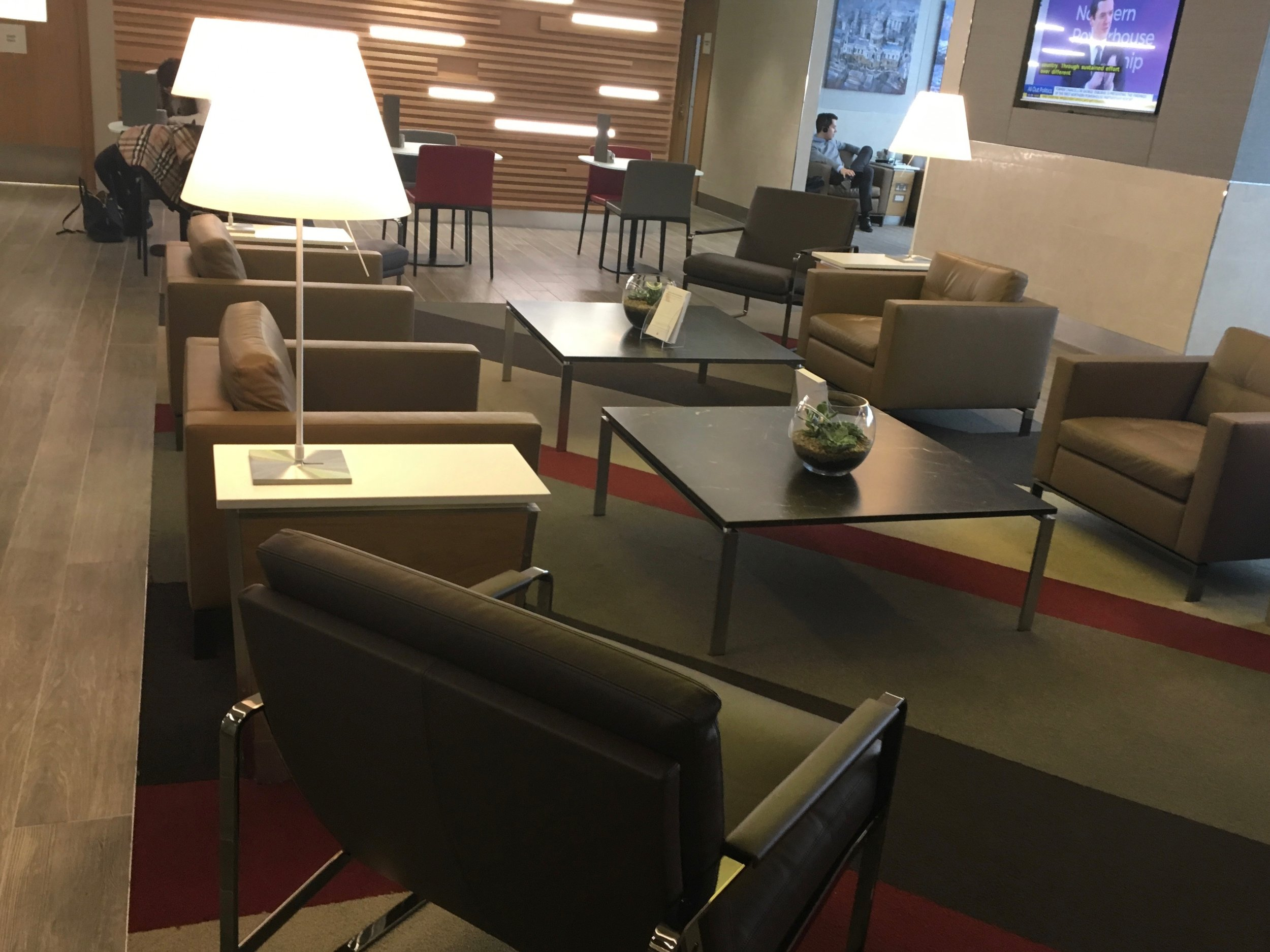 Seats in the main part of the lounge.