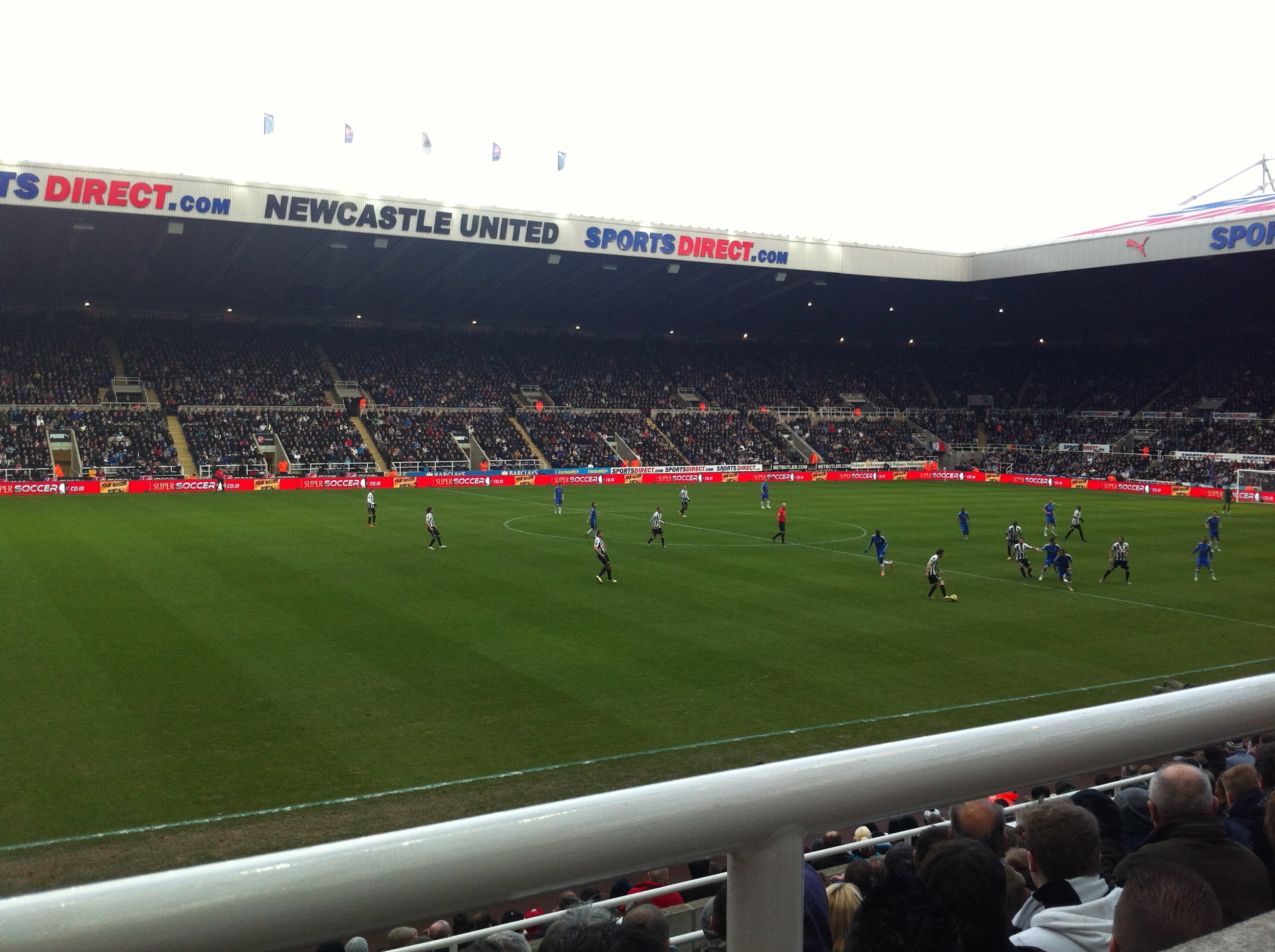 Newcastle vs. Chelsea in 2013, a moment or two before Demba Ba broke his nose