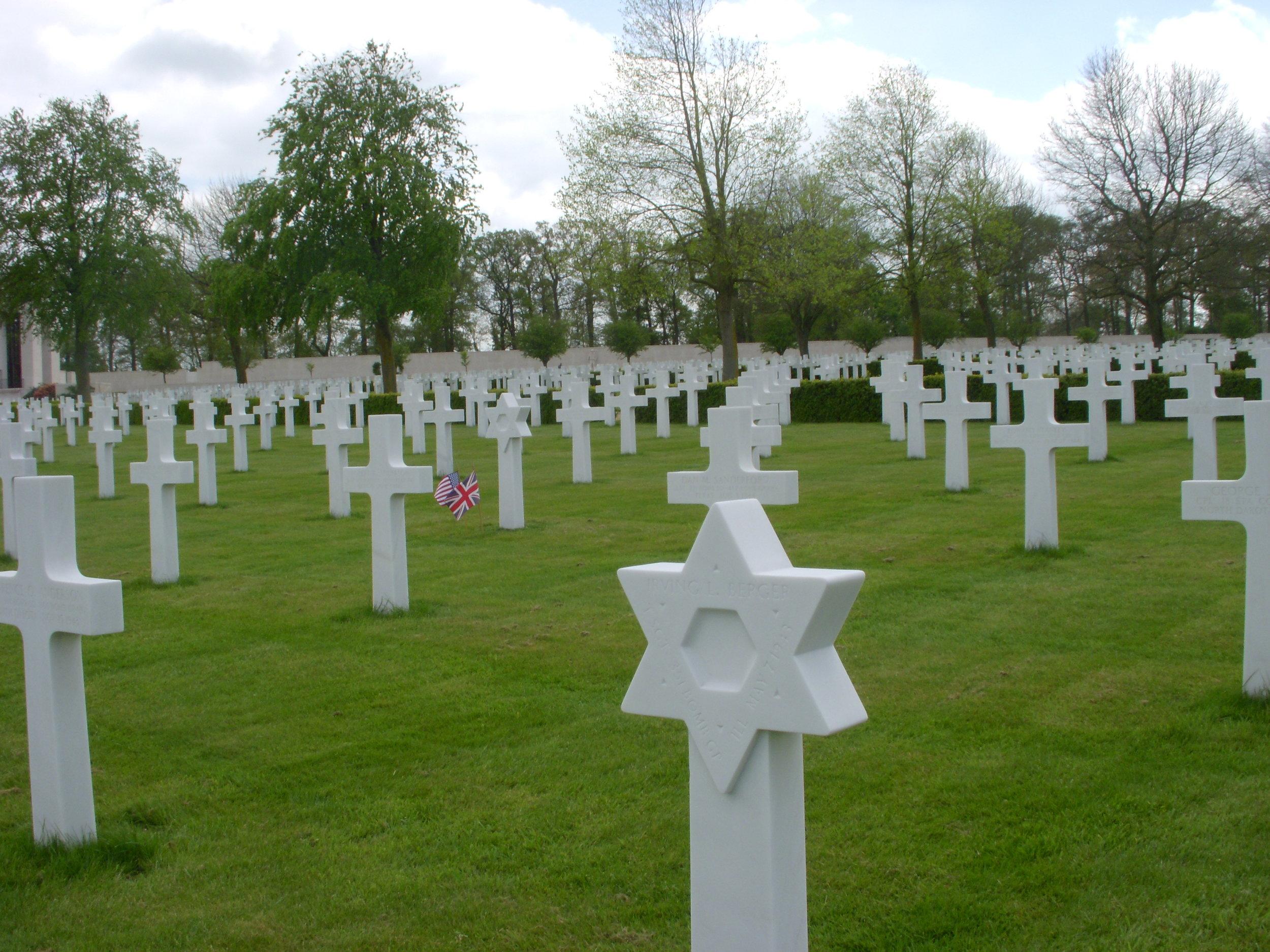 American WWII cemetery in Cambridge