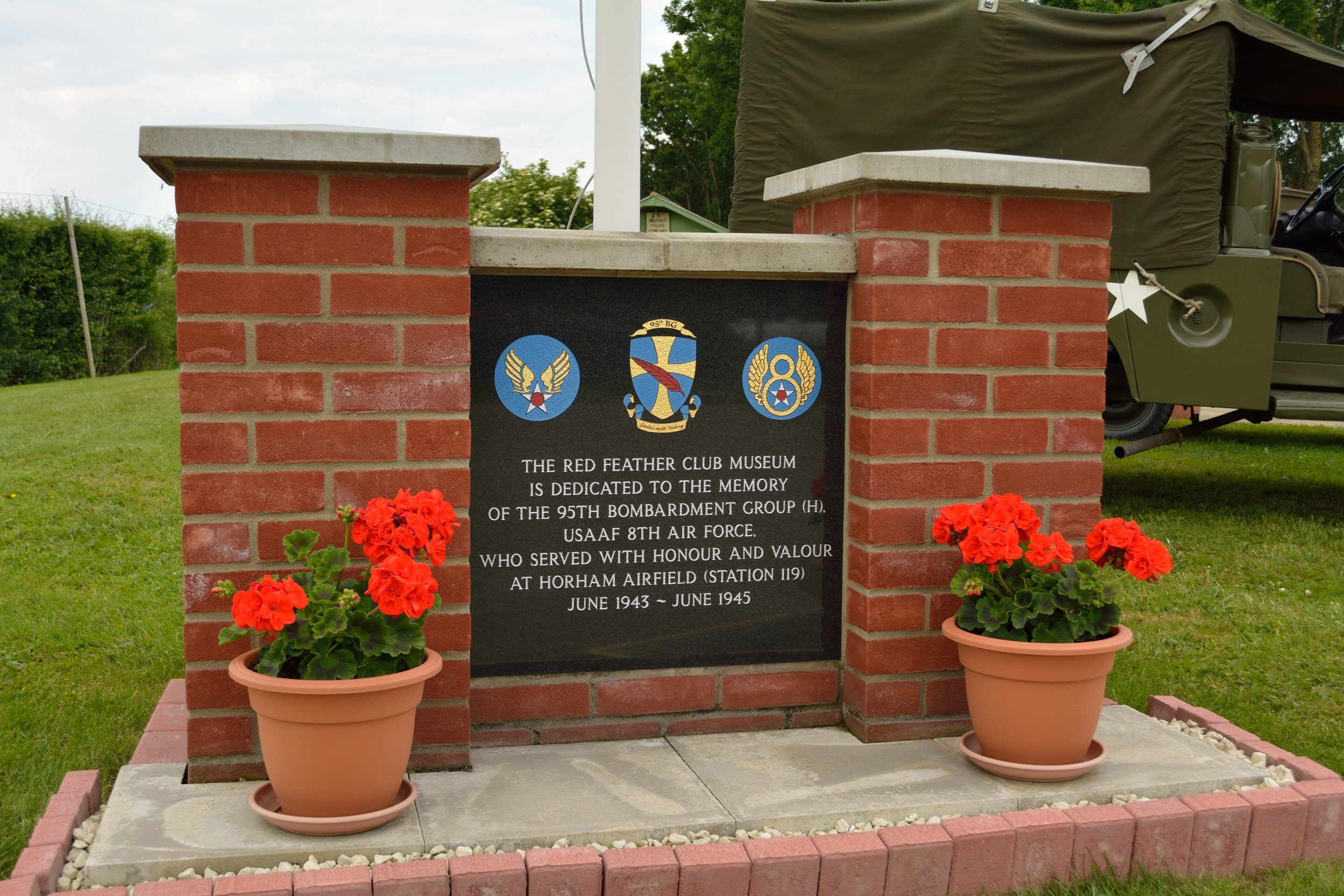 A memorial outside the museum where my grandpa was stationed during WW2