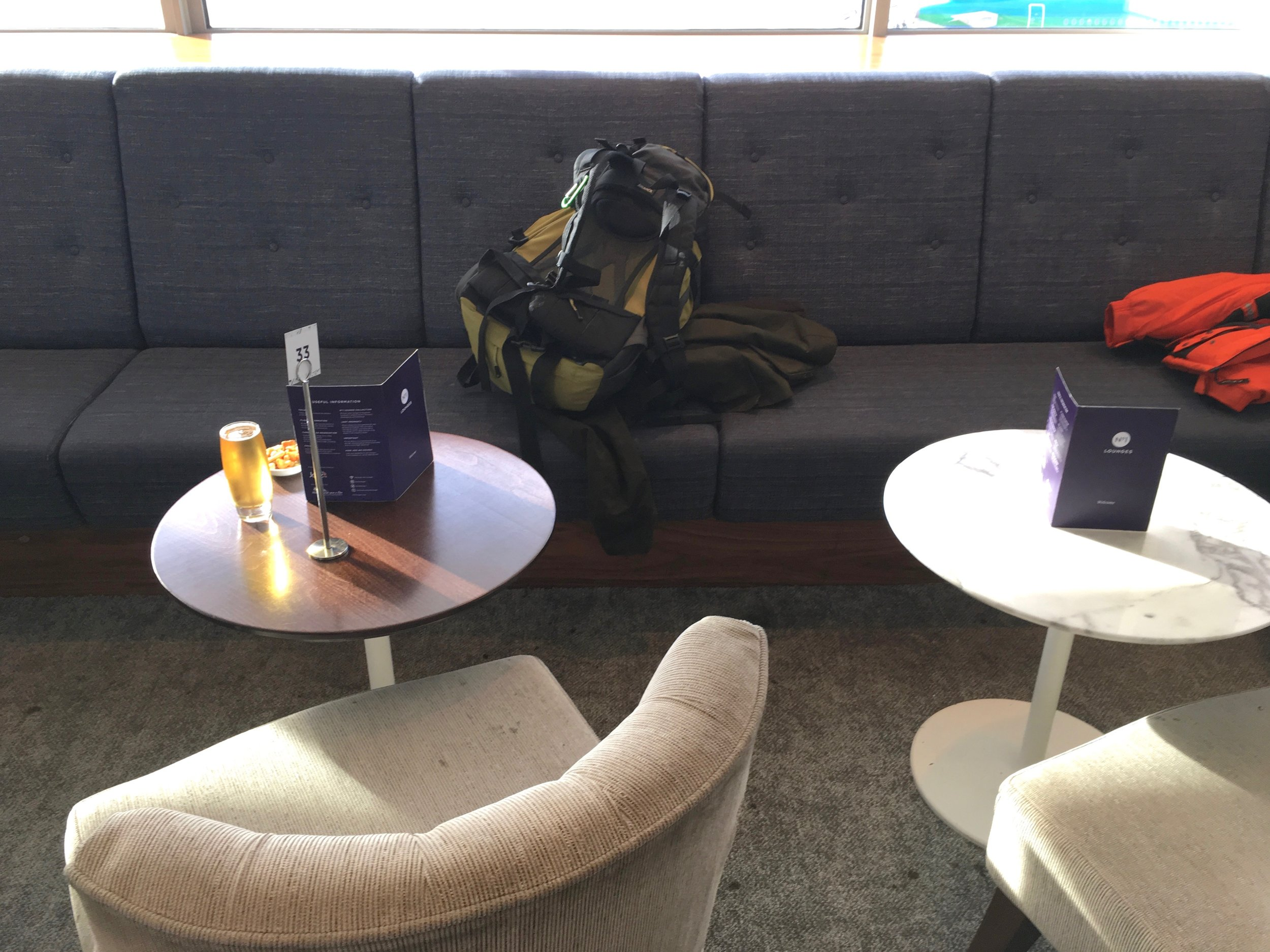 Plenty of seating for me, myself and my backpack