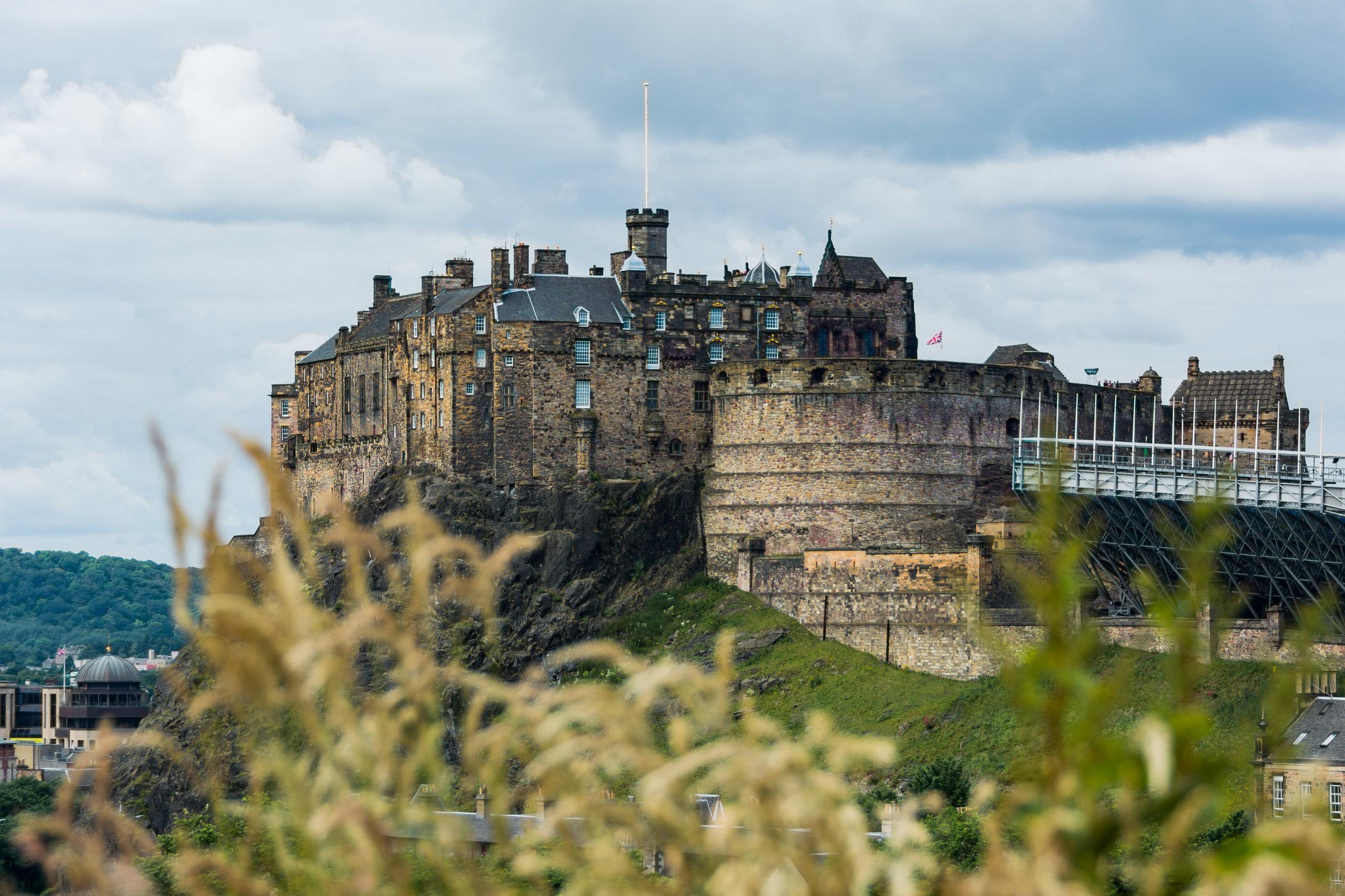A photo of Edinburgh castle during my miles redemption to Edinburgh  last summer .