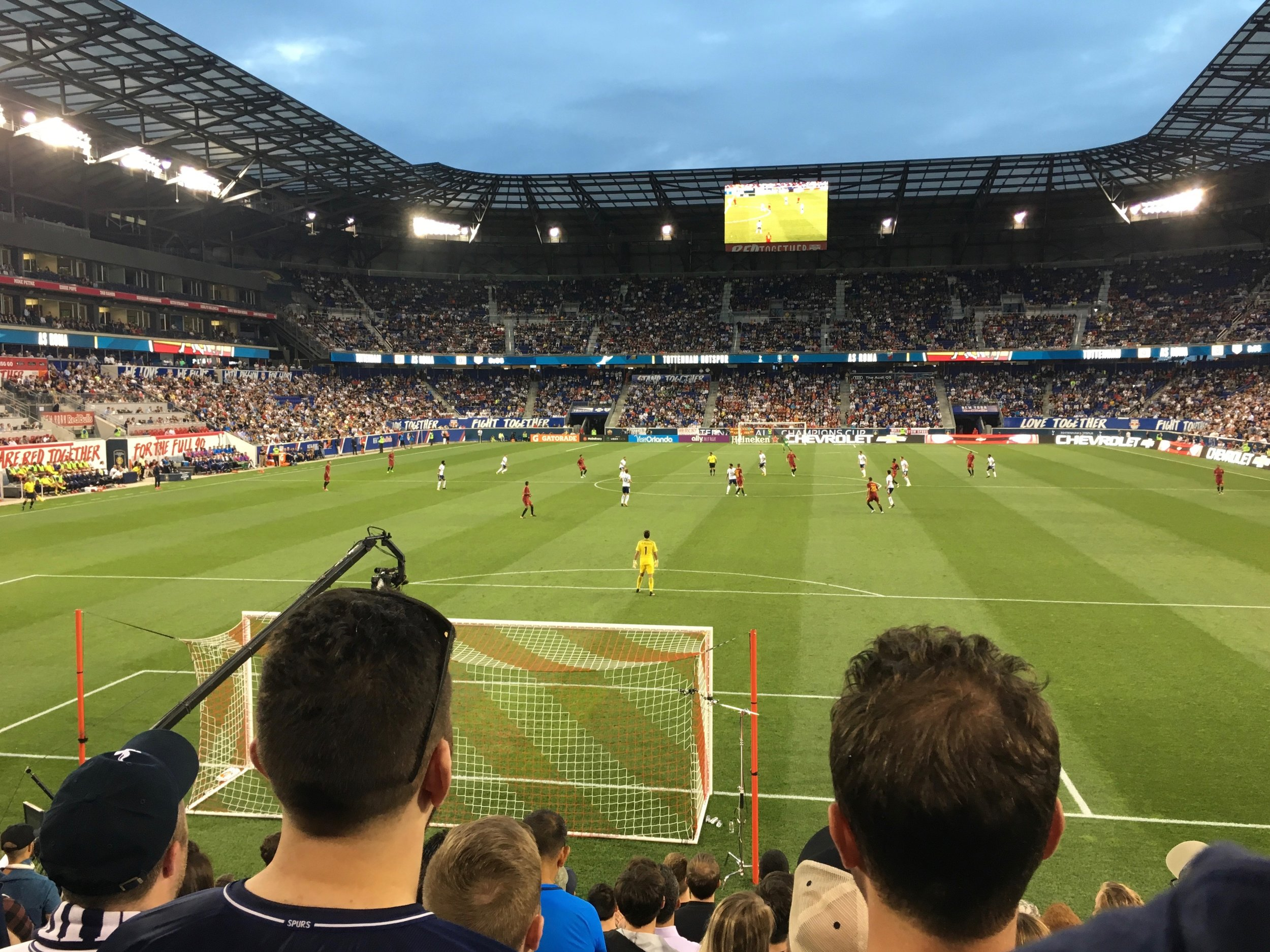 Spurs play in NYC (at the NY Red Bulls' arena in Harrison, NJ)