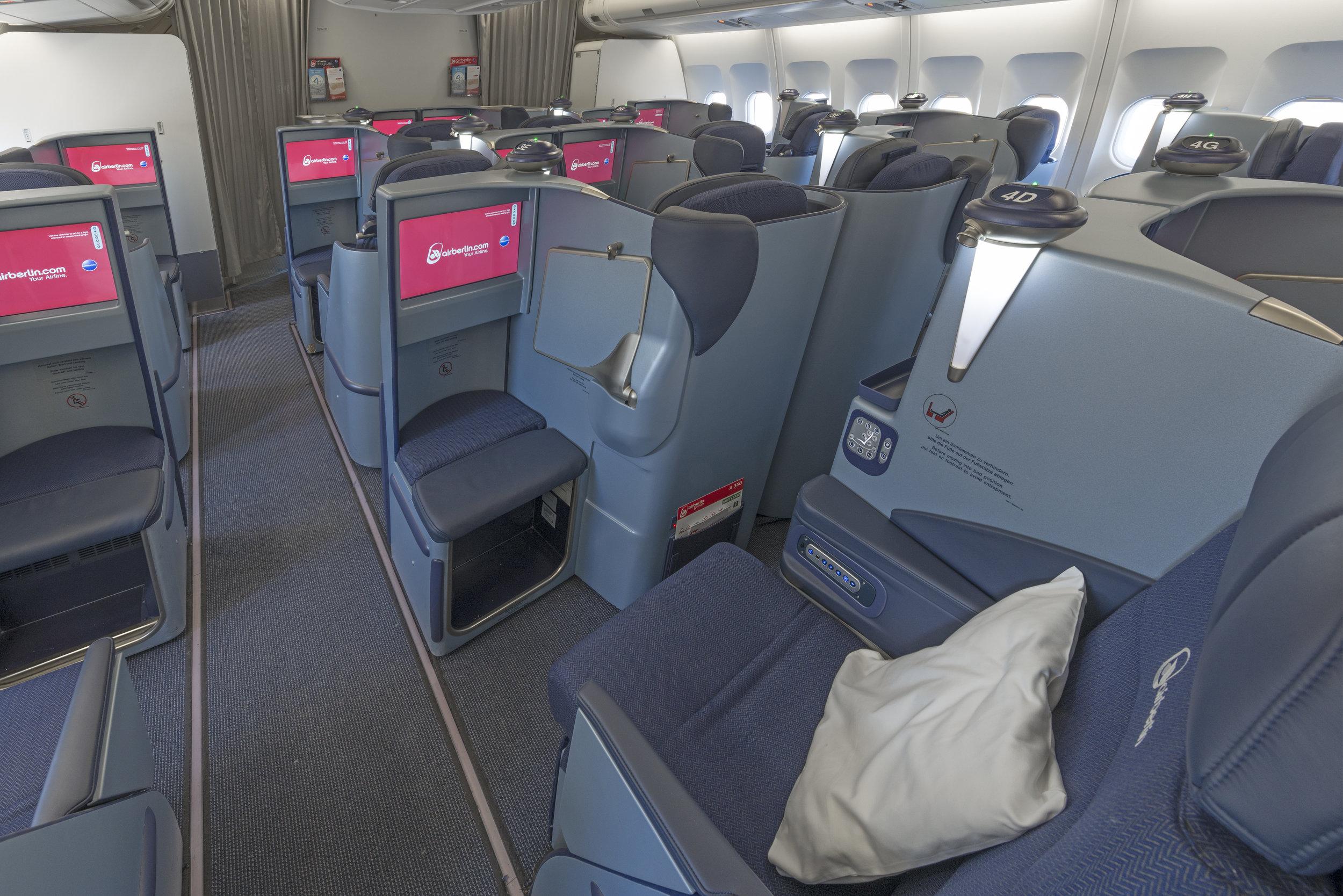 Air Berlin international business class (photo: Air Berlin)