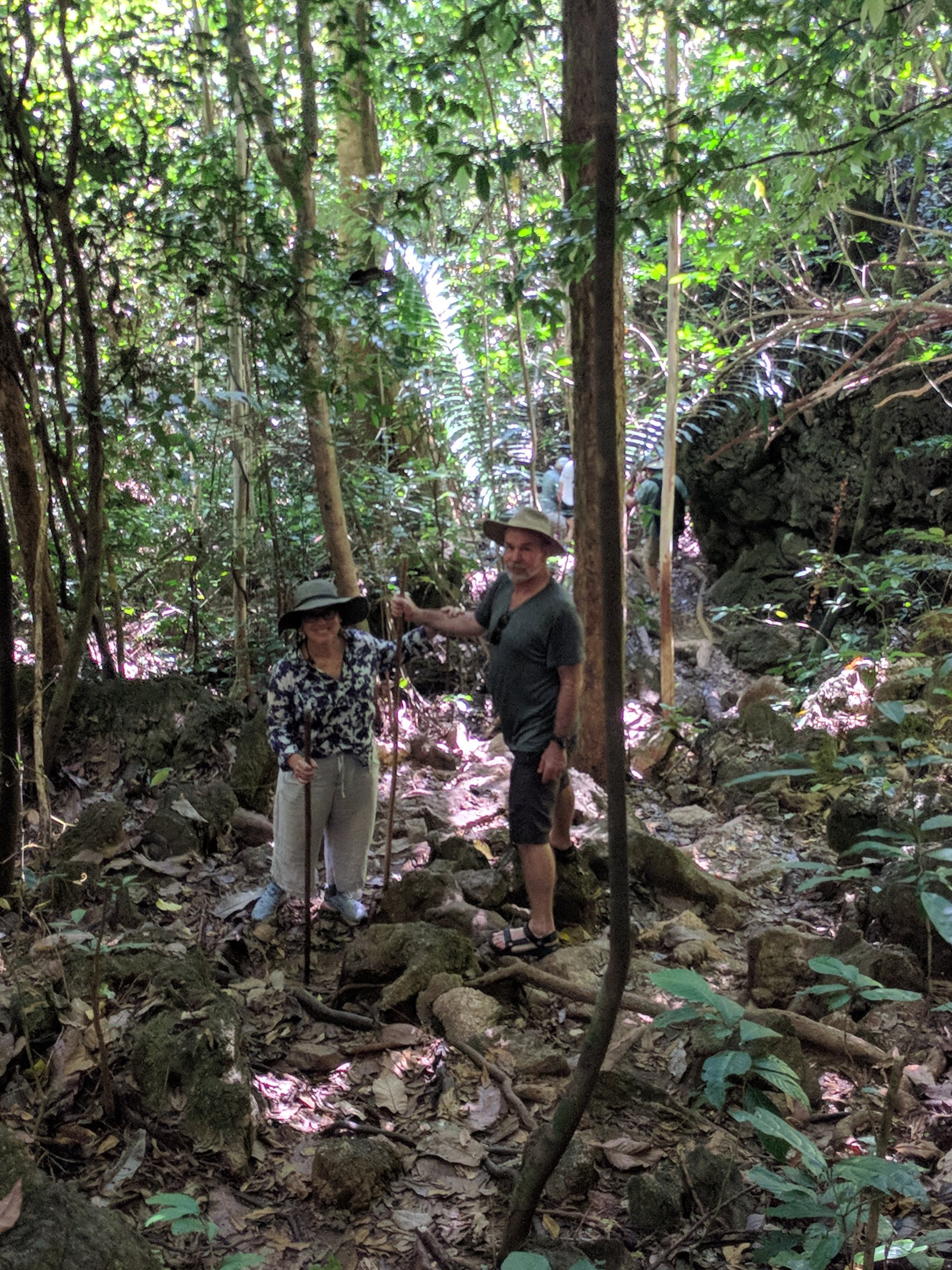 Chris and Chuck exploring the jungle in Khao Sok National Park, Thailand a few weeks ago.