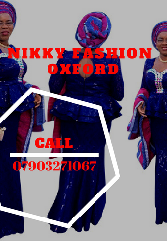 Nikky,Designer - Nike is a Nigerian based fashion entrepreneur based in the U.K. (Oxfordshire) who specialises in Traditional and contemporary African Male and Female wears. Nikkyfashion is our brand name.In addition, we sell fashion items and accessories such as shoes, bags, necklaces, beads, ankara, laces. With over 20 years experience coupled with both local and international recognition....Our clients loves us because we treat them like the royalty they are.