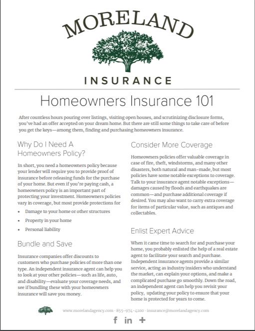 Homeowners Insurance -