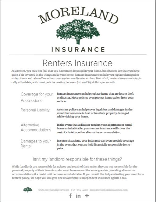Renters Insurance -