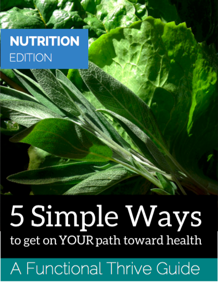 Thank you.You've seen a bit of my journey and I hope that you are feeling inspired. And hopeful. As appreciation, join our wellness community and receive my Functional Thrive Guide on Nutrition—5 Simple Ways to get on YOUR path toward health. -