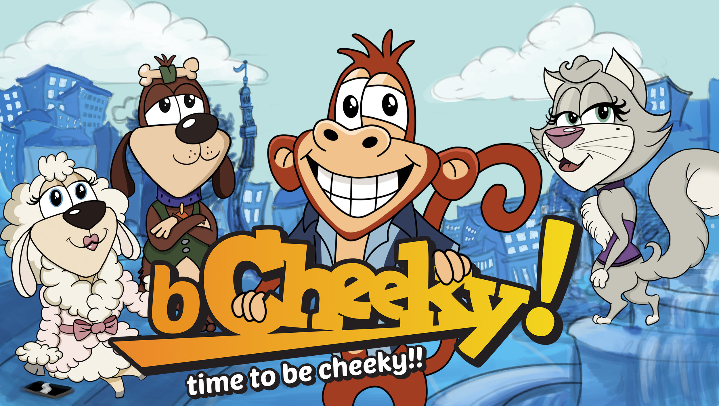 Meet the Characters - The bCheeky characters are basically our squad and feature in all bCheeky App's 'cheeks' (aka greetings videos) for you to send to your own squad.