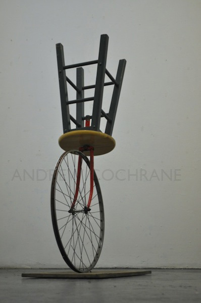 'Defaced Runaway'  (Homage to Marcel Duchamps Bicycle Wheel) 2012