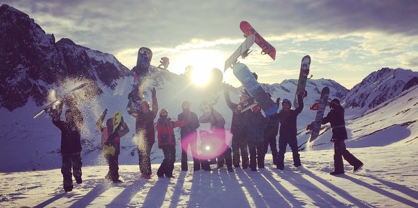 Happiness is yoga followed by snowboarding followed by yoga followed by snowboarding...