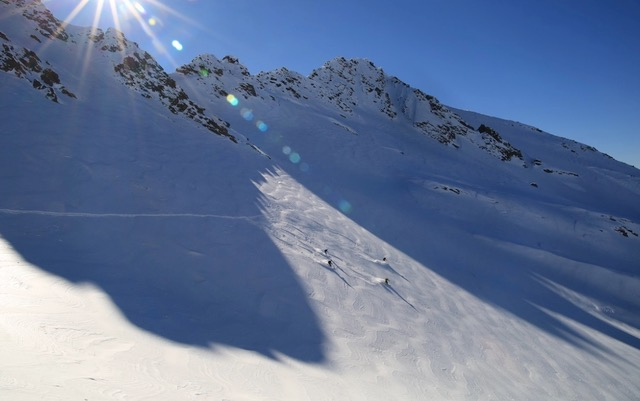 First tracks and fresh tracks all day when you earn your turns