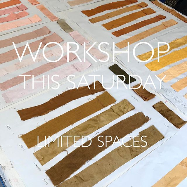Morning all... There are a few spaces left for this Saturday's Natural Dyeing Workshop @3rdrailprintspace @peckhamlevels If you're interested in dyeing fabric with natural colour then come along. We'll be using botanical extracts, wood chips, locally foraged leaves and food waste. You'll take home beautifully dyed samples of cotton, linen, hemp, silk and wool. For more information or to book a place please see my website. . . . #naturaldye #sustainabletextiles #workshops #london #foragedflora #foodwaste #zerowaste #craft #colour #naturalcolour #textiles #whattodothisweekend #learnsomethingnew