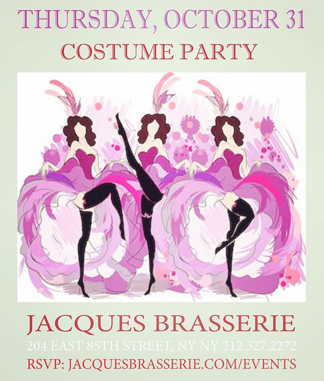 Who wants to dance and dress up?  #moulinrouge #costumeparty  #halloweenNYC @jacques_brasserie @jacques.ouari