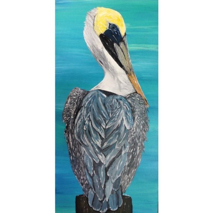 Grace Brookshire Pelican Acrylic