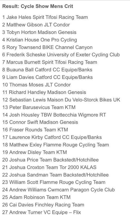 "TBW23 The Cycle Show ""Pirelli Supercriterium"" Josh Housley 3"