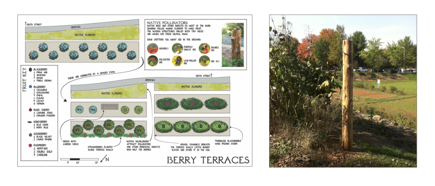 Maps designed by Ben Kessler of  C'ville Foodscapes , and bee logs by  Center for Urban Habitats.