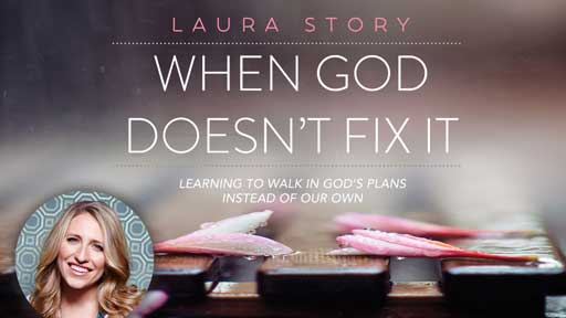 - When God Doesn't Fix It- a 5 week DVD study by Laura Story.