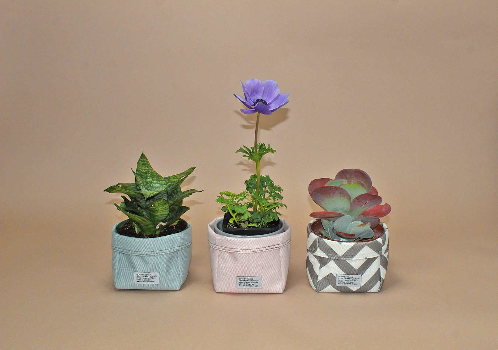 Nylon Fabric Baskets - REVERSIBLE NYLON WATER RESISTANT! STORAGE BIN, PLANT POT COVER, BATHROOM STORAGE. MADE IN USA.