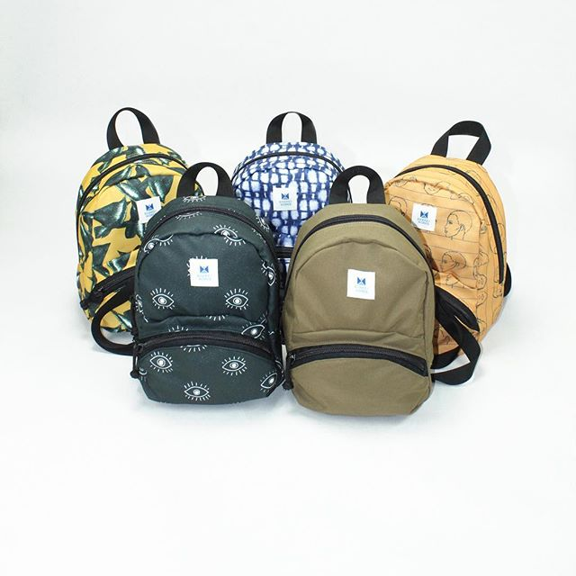 Our new Mini Backpacks & Crossbody Bags from our Spring/Summer2019 collection.  Handcrafted in USA.  All fabrics are printed in-house by us, you won't find these cool prints anywhere else!  More styles to come!